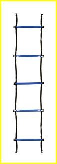 "Champion Sports Sectioned Agility Ladder Set, Red/Yellow/Blue/Green, 6.5"" x 16"" Wide"