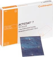 Alimed Acticoat Seven-day Antimicrobial Barrier Wound Dressing, 4'' X 5'' (Box 5 Each)