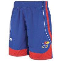 Shorts Jayhawks Adidas Kansas (NCAA adidas Kansas Jayhawks Point Guard Basketball Shorts - Royal Blue (Medium))