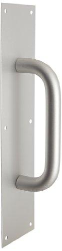 1 Clear Anodized Aluminum Handle (Rockwood 110 X 70C.28 Aluminum Pull Plate, 16