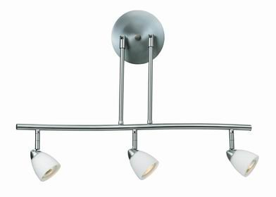 Cal Lighting SL-954-3-BK/BLS Track Lighting with Cobalt Blue Shades, Black Finish
