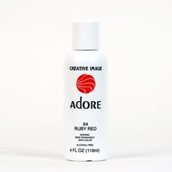 RINSE OUT SEMI-PERMANENT HAIR COLOUR RUBY RED(64) 118ML by Adore