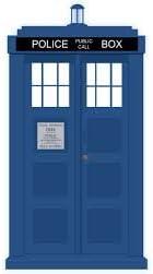 3D Tardis Médico de metal azul policía cabina telefónica mancuernas Quién en caja de regalo