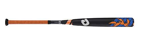 "UPC 887768357368, Wilson DeMarini Voodoo Raw Barrel League Baseball Bat, 28""/18 oz, Black/Royal/Neon Orange"
