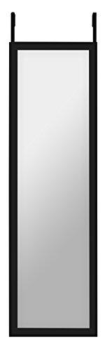 12 x 48inch over the door mirror fulllength mirror overthedoor hanging hardware and adhesive strips included