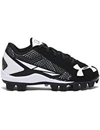 Under Armour Boy's Leadoff Low RM Jr. Baseball Cleat Black/White Size 10 Kids US