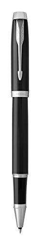 Parker IM Rollerball Pen, Black Lacquer Chrome Trim with Fine Point Black Ink Refill (1975540) by Parker (Image #2)