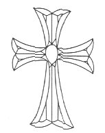 Stained Glass Supplies- Bevel Clusters- Cross (4mm)