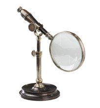 - Authentic Models AC099E Magnifying Glass in Bronzed with Stand - AC099E,