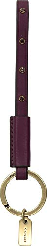 COACH Women's Studded Loop Key Fob B4/Dark Berry One Size