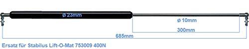 Ersatz f/ür Stabilus Lift-O-Mat 753009 400N