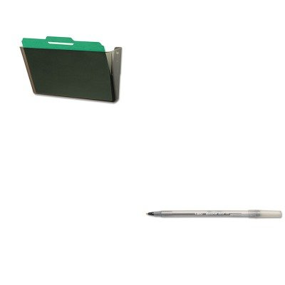 KITBICGSM11BKDEF73202 - Value Kit - Deflect-o DocuPocket Stackable Wall Pocket (DEF73202) and BIC Round Stic Ballpoint Stick Pen (BICGSM11BK) -