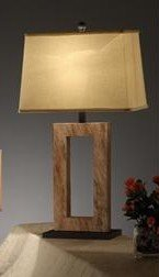 Elegant Table Lamp with Beutiful Khaki Color Shade and Sand Stone Base Pd11#f5327