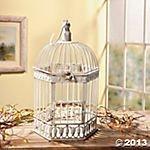 Oriental Trading Company Bird Cage, 7 X 11-Inches, White (Birdcage Decor)