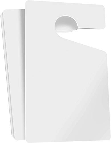"""Parking Permit Hang Tags Blank White DIY Passes - 3x5"""" (10-Pack) Rearview Mirror Hanging Blank Pass for Employees Tenants Businesses Offices Car Lots and More"""