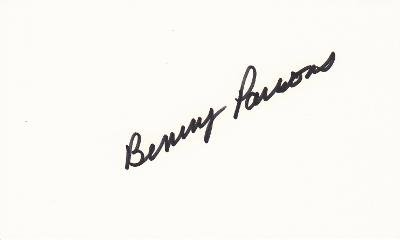 Autographed Benny Parsons Photo - Racing 3x5 inch index card Deceased 2007 - Beckett Authentication - NASCAR Cut Signatures