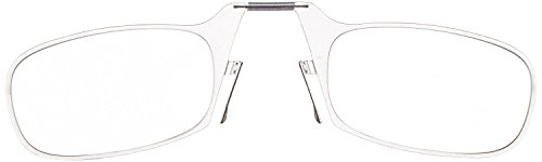 ThinOptics Reading Glasses + Black Universal Pod Case | Classic Collection, Clear Frames, 2.50 Strength by ThinOptics (Image #2)