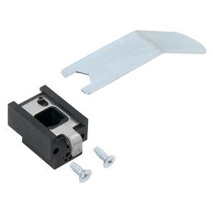 Vertical Rod Device (Satin Aluminum Top Guide for Jackson Concealed Vertical Rod Panic Exit Devices with Top Bolt)