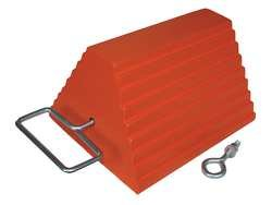 Industrial Grade 1GUK3 Wheel Chock, 10 In W x 6 In H