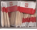 (Box of 100 Polish Poland Toothpick Flags Dinner Flags Food Flags Flag Pick)