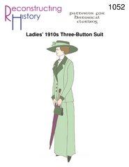 [Ladies' 1910s Three-Button Walking Suit Pattern] (1910 Costumes)