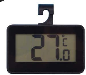 Black, One Size Digital Refrigerator Thermometer Waterproof Large LCD Display Freezer Room Thermometer with Magnetic Back