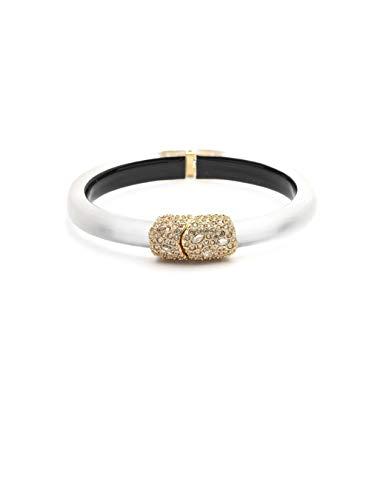 Alexis Bittar Women's Crystal Encrusted Clasp Skinny Hinge Bracelet