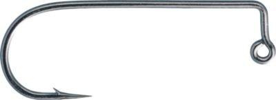 Gamakatsu 90 Degree Round Bend Heavy Wire Jig Hook-Pack Of 25 (Black, 3/0)