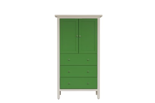 urbangreen furniture Painted Eco MDF white and green finish Hudson -