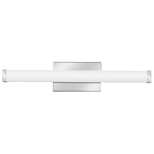 Lithonia Lighting Contemporary Square 3K LED Vanity Light, 2-Foot, Chrome - Chrome Vanity Bar