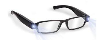 Boolavard TM Black LED Reading Glasses-presbyopic glasses with LED light Power/Diopter; +1.0 +1.5 +2.0 +2.5 +3.0 UPICK - Led Reading Glasses
