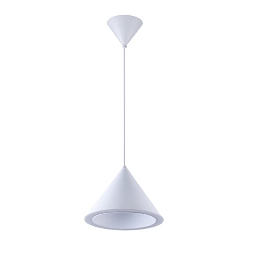 "YISION LED Pendant Light Modern Hourglass Style Design Ceiling Lighting Industrial Chandelier Lights 11.8"" Diameter Hanging Lamp with Acrylic Funnel Shape for Indoor Kitchen Bedroom Bar Restaurant"