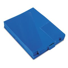 End Tab Poly Out Guides, Center ''OUT'' Tab, Letter, Blue, 50/Box