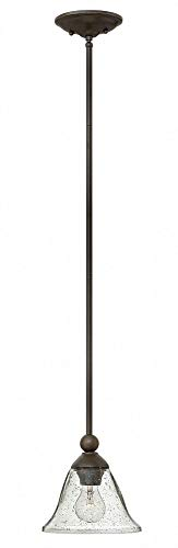 Hinkley 4667OB-CL Transitional One Light Pendant from Bolla collection in Bronze/Darkfinish,