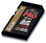 Delkin Devices DDSDPRO2-4GB 4GB 150X SDHC eFilm Secure Digital Pro - 150x Memory Sdhc Card