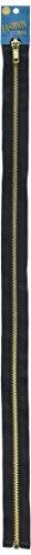 Coats and Clark F25F24-002 Fashion Metal Brass Separating Zipper, 24