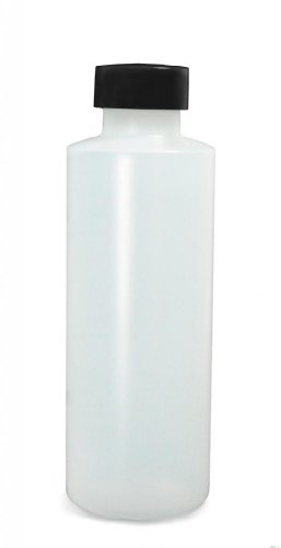 Qorpak PLC-03444 HDPE Cylinder Bottle with 28-400 Black Phenolic PolyCone Lined Cap, 32 oz, Natural (Pack of 12)
