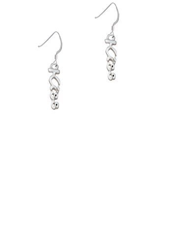 French Kiss Ring (Small Kiss Script - French Earrings)
