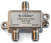 900 Mhz Signal Splitter - Black Point Products BV-017 H.D. RG-6 H.D. 2 Way Splitter