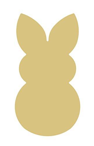 Rabbit Cutout Unfinished Wood Coney Hare Lapin Bunny Hop Animal Pet MDF Shape Canvas Style ()