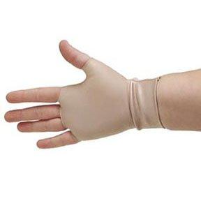 Beige Support Gloves, Occumitt, Medium, Fingerless, Nylon/Spandex Hand and Wrist