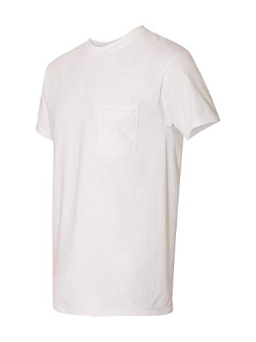 By Gildan Gildan Adult Heavy Cotton 53 Oz Pocket T-Shirt - White - L - (Style # G530 - Original Label)