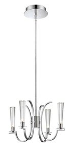 (Eurofase 25633 Cromo 4-Light Chandelier, Polished Chrome)
