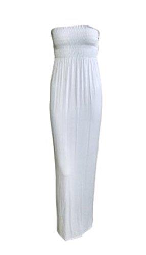 Unknown - Robe - Maxi - Femme -  Blanc - XXL