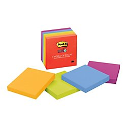 Post-it Super Sticky Notes, 2x Sticking Power, 3 in x 3 in, Marrakesh Collection, 5 Pads/Pack (654-5SSAN) for $<!--$6.16-->