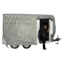 - ADCO 46002 SFS Aqua-Shed Bumper-Pull Horse Trailer Cover - 10'1 to 12' by ADCO