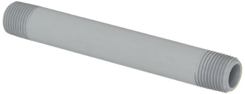 - GF Piping Systems CPVC Pipe Fitting, Nipple, Schedule 80, Gray, 6