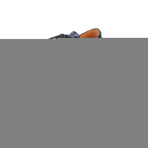 Creeper Affaires Punk Bleu Plateaforme Homme Cuir Chaussures Lacets Oxfords q6YwXOXz