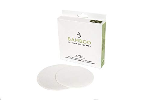 Bamboo Washable Nursing Pads, 8 Reusable Breast Pads for Breastfeeding