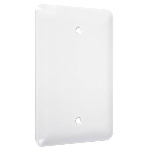 TayMac WMW-B Maxi Metallic Wallplate with Blank, Single Gang, White Smooth ()
